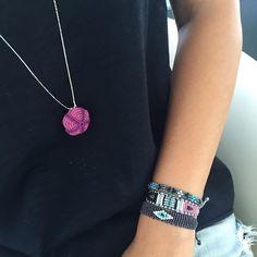 ❤️ #handmade #necklace #bracelet #armcandy #macrame #evileye #urchin #semipreciousstones #bohochic #jewelry #resortjewelry #summeraccessories