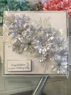 Congratulations On Your Wedding Day, Congratulations Card, Wedding Day Cards, Wedding Anniversary Cards, Chloes Creative Cards, Stamps By Chloe, Anniversary Crafts, Heartfelt Creations Cards, Tattered Lace Cards