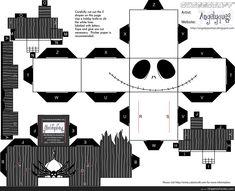 papercraft   jack skeleton papercraft