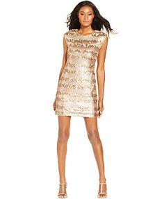 465620fd60fe Adrianna Papell Cap-Sleeve Sequin Sheath Women - Dresses - Macy s
