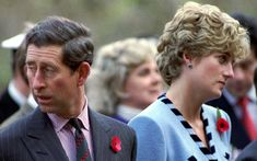 3 November 1992: Princess Diana and Prince Charles look in different directions during a service held to commemorate the 59 British soldiers killed in action during the Korean War