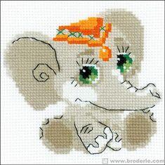 Kit point de croix - L'éléphanteau - RIOLIS