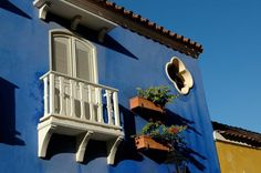 Blue house, Cartagena