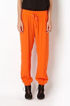 sass & bide | THE WAY OF THE WORLD - blood orange relaxed fit pants Orange Pants, Blood Orange, Workout Pants, Parachute Pants, Harem Pants, Sweatpants, My Style, Fitness, Lounge