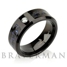 Diamond Men Tungsten Wedding BandMan Tungsten by BravermanOren
