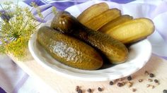 Csemege uborka recept cukor és tartósítószer nélkül Cukor, Stevia, Pickles, Cucumber, Sausage, Paleo, Meat, Foods, Life