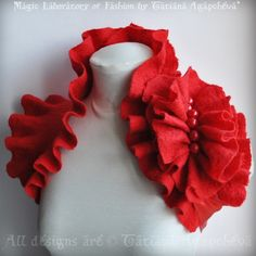 Wedding Wrap Be My VALENTINe Shrug Bolero Scarf Collar by TianaCHE, $145.00
