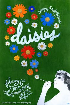 Directed by Vera Chytilová. With Jitka Cerhová, Ivana Karbanová, Julius Albert, Jan Klusák. Two girls try to understand the meaning of the world and their life. Cool Posters, Film Posters, Daisies 1966, I Love Cinema, Daisy Love, Film Inspiration, Branding, Great Films, Movies Online