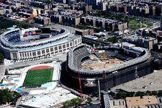 Yankee Stadium..old and new