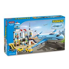 Oxford Lego Style Block Toy ST33313- Town Series Airport