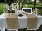 Image detail for -Burlap Table Runner Rustic Wedding Decor by YourDivineAffair