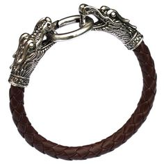 leather Tibetan silver men bracelet titanium fashion male vintage accessories parataxis dragon bracelet men jewelry