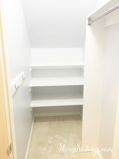 Closet Under the Stairs After                                                                                                                                                      More