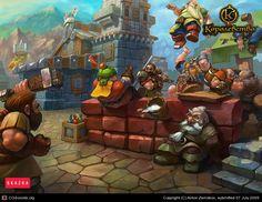 Drunk Gnomes by Anton Zemskov | 2D | CGSociety