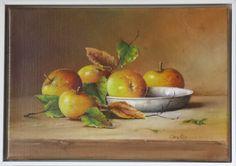 5 Äpfel mit Zinnschale 35 x 24