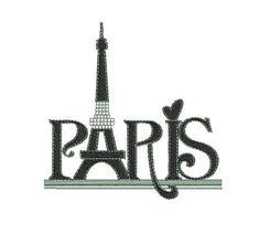 Descarga inmediata bordado Paris torre eiffel
