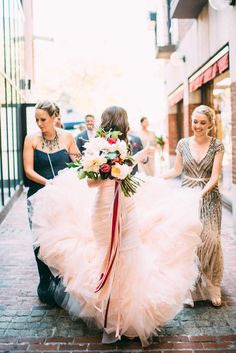 Metallic and pink Boston wedding | Photo by Cambria Grace Photography | Florals by Pollen Floral Design | Read more - http://www.100layercake.com/blog/?p=82485