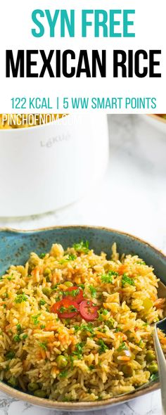 Syn Free Mexican Rice Pinch Of Nom Slimming World Recipes 122 kcal Syn slimming world Slimming World Dinners, Slimming World Recipes Syn Free, Slimming Eats, Healthy Eating Recipes, Diet Recipes, Cooking Recipes, Healthy Food, Recipies, Healthy Treats