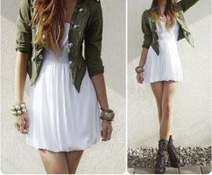 White dress for summer and maybe fall