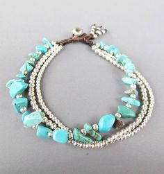 Multi Strand Turquoise Chip Stone Bracelet with by Summerwrist, $7.00