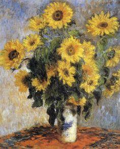 Claude Monet - Bouquet of Sunflowers, 1880 - Fine Art Print