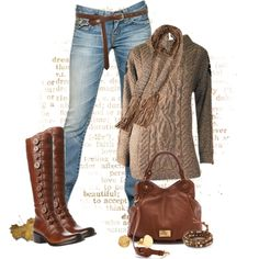 """Beautiful in Brown"" by johnna-cameron on Polyvore"