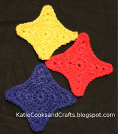 Steelers crochet stars