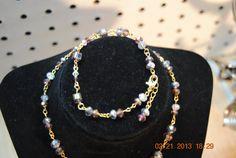 Swarovski crystal bracelet in Amethyst by JEWELRYBYTWYLA on Etsy, $14.95