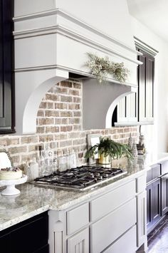 ziegelwand stilvolle ideen für die küchenrückwand