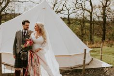 This super cool couple had a festival themed wedding inspired by Coachella at Eden Leisure Village in Scotland, filled with dreamy boho details.