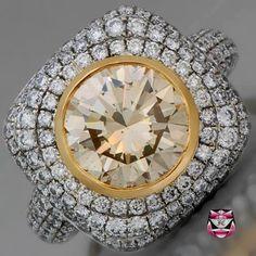 3.37ct Champagne Diamond Engagement Ring