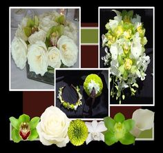 Bouquet - GREEN AND WHITE WEDDING FLOWERS