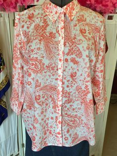 Women's Long Sleeve Button Front Shirt Size 2X | eBay