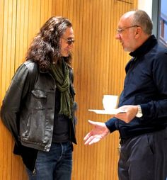 Geddy Lee and Pete Townshend