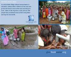 See the change in condition (and hearts) in Gattara Jaldo, India.  To learn more about Water of Life's work & ministry:  http://givefreshwater.org/