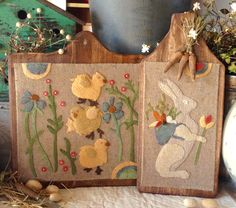 "NEW!  #274 ""Sweet Spring"" Wool Appliqué Pattern"