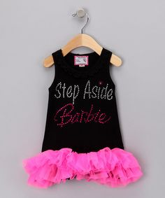 Take a look at this Black 'Step Aside Barbie' Dress - Infant, Toddler & Girls by Born 4 Couture on #zulily today!