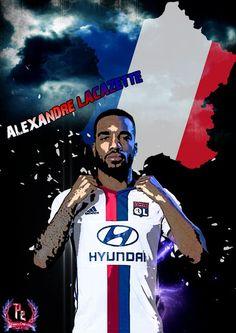 Alexandre Lacazette poster by PanosEnglish.deviantart.com on @DeviantArt