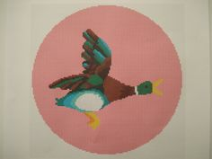 Retro vintage kitsch iconic Flying Duck cross by cupcakecutie1