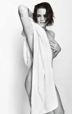 Kristen Stewart Stuns in Mario Testino's Towel Series