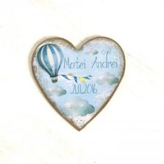 Hot Air Balloon Magnets - marturii magneti personalizati - Le Cose Animate Baby Tips, Baby Hacks, Heart Ring, Balloons, Hot, Bebe, Globes, Heart Rings, Balloon