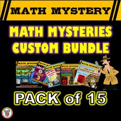 In this Math Mysteries custom bundle download you will receive instructions and a form to complete to process your bundle order. You may choose any 15 of my single math mysteries (no pre-packaged bundles) in your bundle. The total full price value of 15 math mysteries would be $52.50, you will save 28% off with this bundle!STEPS REQUIRED TO TAKE POST PURCHASE:- Step 1: View the range of math mysteries available in my store for grades 1-6.