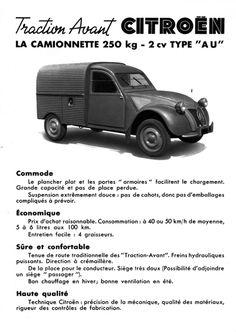 Citroën 2CV Fourgonnette Type AU1950