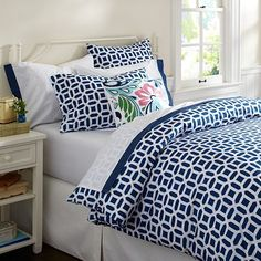 I love the Peyton Organic Duvet Cover & Pillowcases on pbteen.com