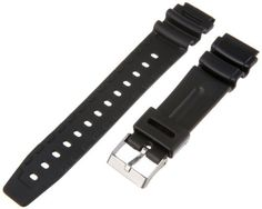 Timex Men's Q7B723 Resin Performance Sport 19mm Black Replacement Watchband by Timex Watch Bands -- Awesome products selected by Anna Churchill