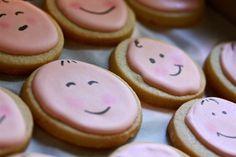 Sara's Baby Shower Tea Baby Face Sugar Cookies
