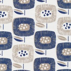 Block Blooms Navy from the Around the Block Collection by Skinny laMinx for Fabrics. - organic cotton canvas oz) - wide - OCS certified organic - Printed with low impact dyes - Made in Pakistan Yardage is cut continuously. Fabric Patterns, Print Patterns, Pattern Designs, Floral Patterns, Sewing Patterns, Textile Design, Fabric Design, Lino Design, Canvas Fabric
