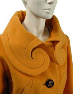 1950's Elsa Schaperelli coat. Great details, great button