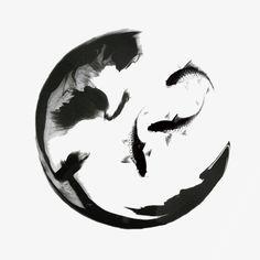 ancient circle,water fish,ink circle,koi,beautiful,ancient,circle,water,fish,ink,fairy,wind,wreathed,spirits Circle Tattoos, Body Art Tattoos, Zen Tattoo, Symbolic Tattoos, Unique Tattoos, Japon Illustration, Samurai Art, Zen Art, Ink Painting
