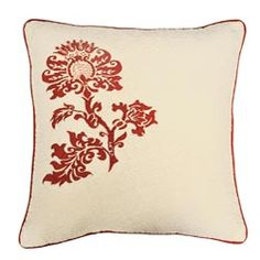 @Overstock - Celeste Ivory Pillow - This throw pillow showcases a lovely vintage French floral pattern. This decorative pillow is accents with vermicelli quilting and piping.  http://www.overstock.com/Home-Garden/Celeste-Ivory-Pillow/5751379/product.html?CID=214117 $60.99